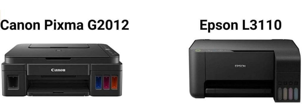 Canon Pixma G2012 vs Epson L3110