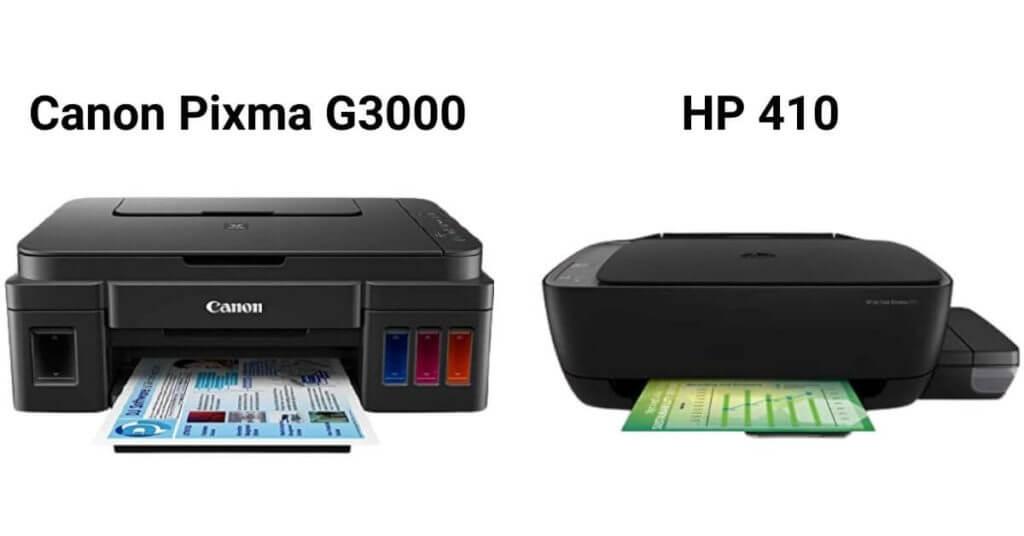 Canon Pixma G3000 vs HP 410