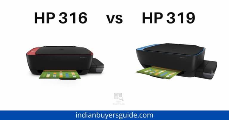 HP 316 vs HP 319
