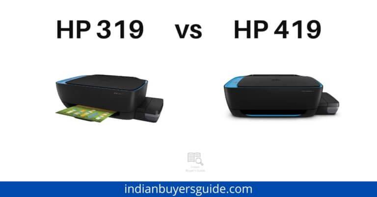 HP 319 vs HP 419
